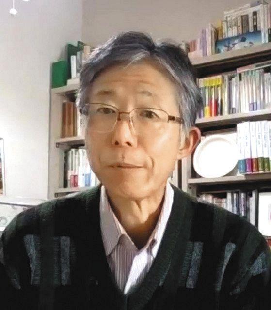 オンライン取材に答える二宮周平・立命館大教授