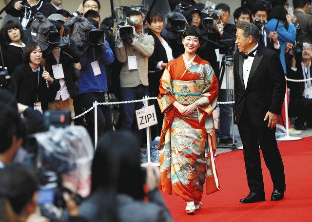 2016年の東京国際映画祭。俳優らがレッドカーペットを歩く光景は今年はない