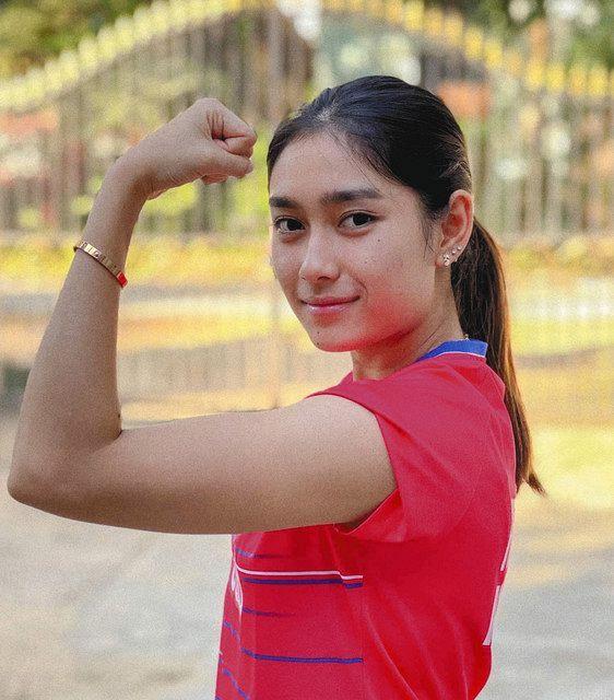 東京五輪にミャンマー代表で出場するバドミントン女子のテッ・ター・トゥーザー選手=本人のSNSから
