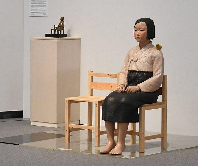 あいちトリエンナーレ2019で展示された「平和の少女像」