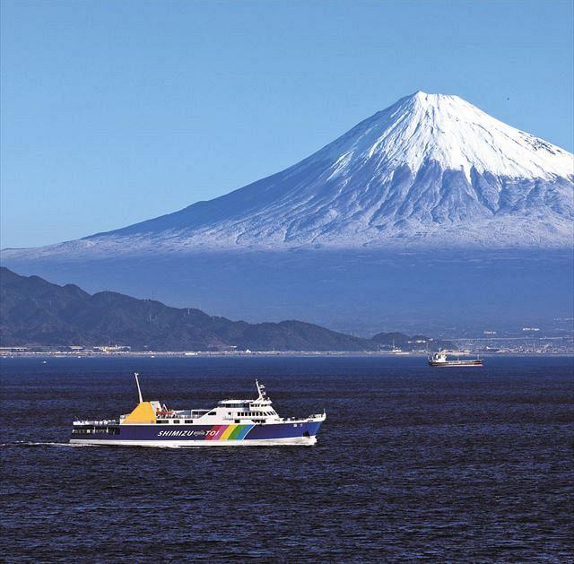 富士山を望む駿河湾フェリー、思い切って運賃半額キャンペーン 海路で ...
