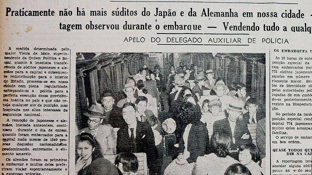 強制退去させられた日系人でひしめく列車の様子を記した地元紙の記事と写真。事件の記録はこれ以外ほとんど残されていない ©玄要社