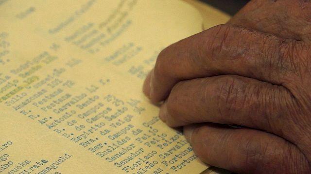 松林さんが見つけた強制退去させられた日系人の名簿 ©玄要社