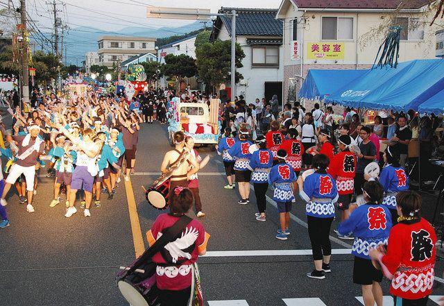 2018年の貝がら節祭り(鳥取市気高町総合支所提供)