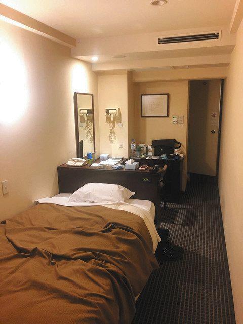 宿泊療養先として東京都が確保したホテルの一室=近藤秀一さん提供