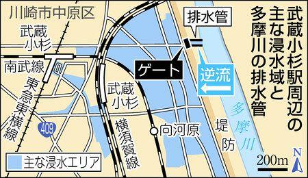中原 川崎 浸水 市 区