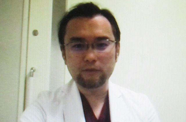 オンライン取材に応える神奈川県立循環器呼吸器病センターの丹羽崇医師