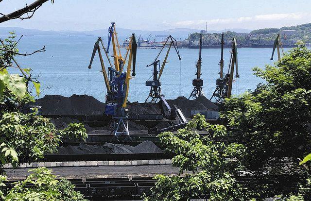 Порт Находка, куда отправляется уголь для Японии, Китая и Южной Кореи