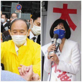 与党VS野党共闘の象徴 菅前首相と立民・岡本さんが一騎打ち<衆院選神奈川2区>