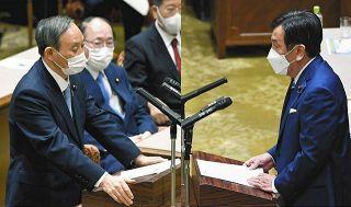 【詳報】初の党首討論 菅首相、東京五輪「子どもたちに見てほしい」6分45秒とうとうと…