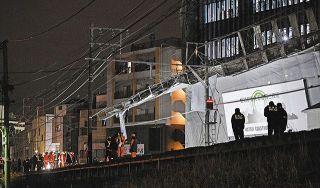 東急東横線 渋谷ー武蔵小杉間、午後0時20分に運転再開 自由が丘で工事現場の足場崩れ【動画あり】