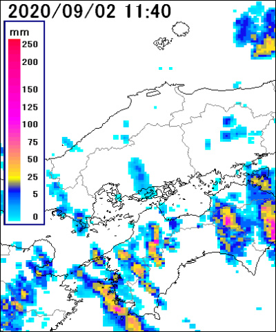 雨雲レーダー広島