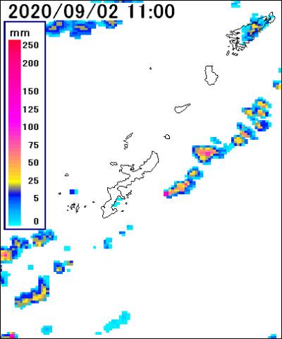 宮古島 天気 雨雲 レーダー